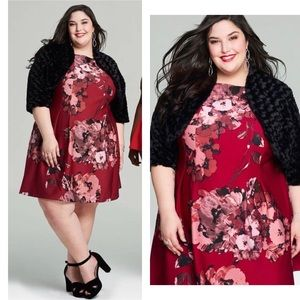 Taylor Woman Dresses - Floral Printed Skater Dress